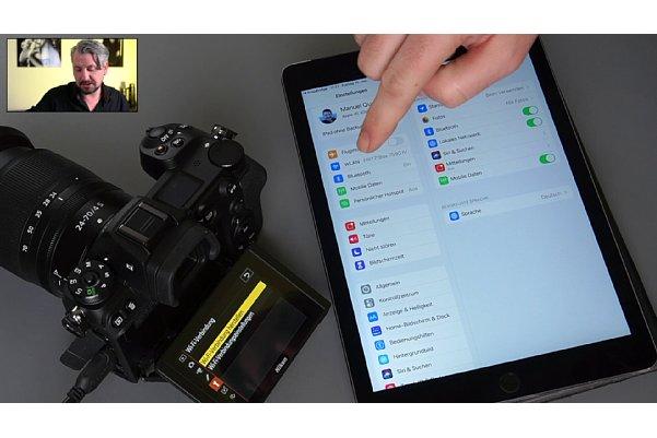 """Bild Manuel Quarta im Schulungs-Videos """"Nikon Z-System im Detail"""", Kapitel """"Verbindung mit der Snapbridge-App über WLAN"""". [Foto: MediaNord]"""