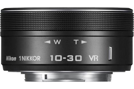 Bild Das Nikon 1 Nikkor VR 10-30 mm 1:3,5–5,6 PD-Zoom ist besonders klein, leicht und kompakt. [Foto: Nikon]