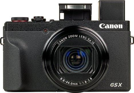 Bild Die Canon PowerShot G5 X Mark II bietet nicht nur einen Pop-Up-Sucher, sondern auch einen kleinen Pop-Up-Blitz, der sogar über der optischen Achse sitzt. Die Leistung ist allerdings schwach und eine Drahtlosblitzsteuerung gibt es auch nicht. [Foto: MediaNord]