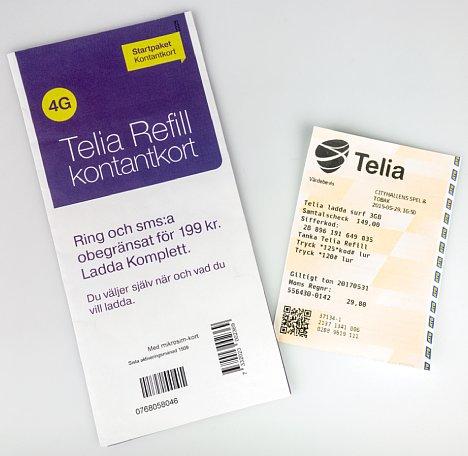 Bild Die Telia Refill Kontantkort (Prepaid SIM-Karte) wird per Auflade-Code mit einem Datenvolumenguthaben versehen. Auf der Tastatur tippt man *125* dann den 14-Stelligen Auflade-Code (ohne Leerzeichen), dann die Raute-Taste. [Foto: MediaNord]