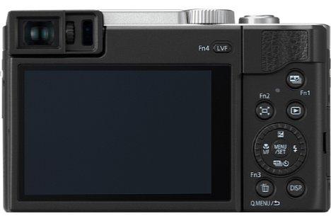 Bild Die deutlichste Verbesserung der Panasonic Lumix DC-TZ96 gegenüber ihrem Vorgängermodell TZ91 ist der nun 0,53- statt 0,46-fach vergrößernde, mit 2,36 Millionen Bildpunkten doppelt so hoch auflösende Sucher. [Foto: Panasonic ]