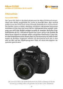 Bild Ein kleiner Extra-Service: Wir beschreiben kurz drei mögliche Konkurrenten zur Nikon D5500 und sagen was diese besser oder schlechter können. [Foto: MediaNord]