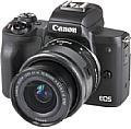Die preisattraktive Canon EOS M50 besitzt ein gut verarbeitetes und dank Gummierungen griffiges Kunststoffgehäuse. [Foto: MediaNord]
