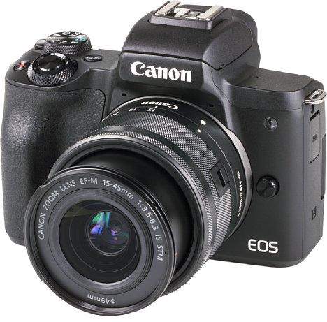 Bild Die preisattraktive Canon EOS M50 besitzt ein gut verarbeitetes und dank Gummierungen griffiges Kunststoffgehäuse. [Foto: MediaNord]