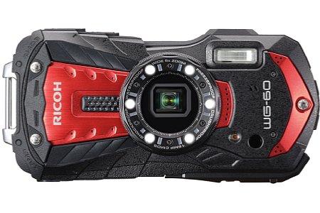 Bild Die Ricoh WG-60 gibt es auch in Rot-Schwarz. Der Preis beträgt bei beiden Farbvarianten rund 250 Euro. [Foto: Ricoh]