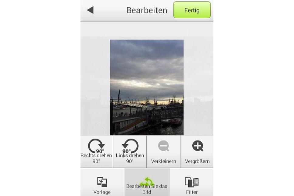 Bild Bildbearbeitung mit der Instax Share App. [Foto: MediaNord]