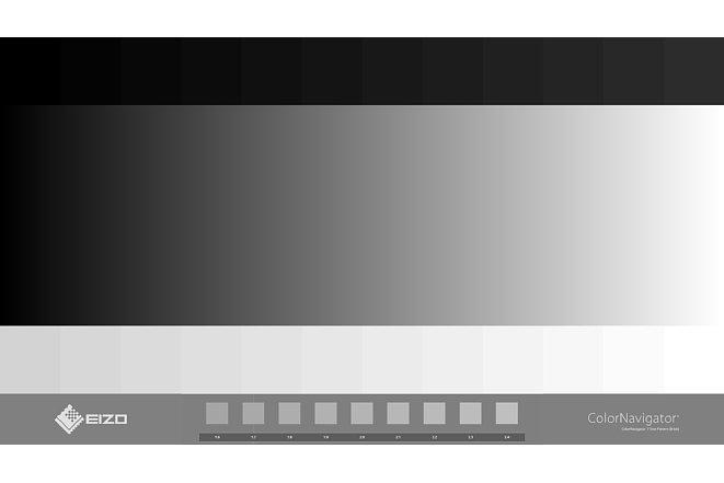 Bild Mit dem Testbild kann die Tonwertwiedergabe des Eizo Monitors visuell überprüft werden. [Foto: MediaNord]