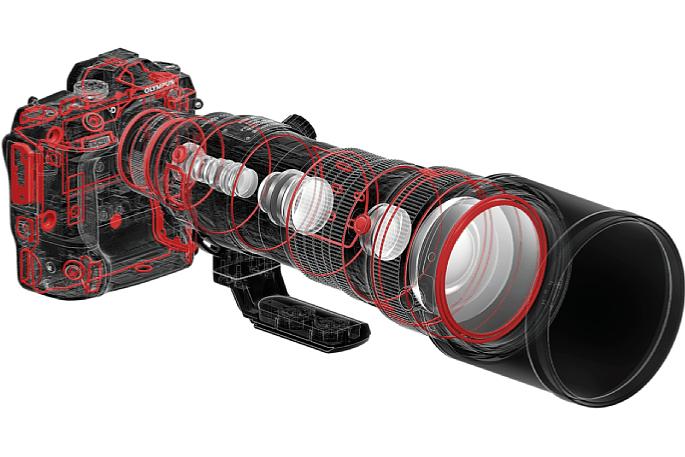 Bild Das Olympus 150-400 mm 4.5 ED TC1.25x IS Pro ist gegen Staub und Spritzwasser abgedichtet sowie bis -10 °C frostgeschützt. [Foto: Olympus]