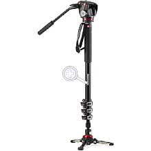 Manfrotto MVMXPROA4577 XPRO Video Monopod Alu 4 Seg. Mit 577 Und Fluid Base