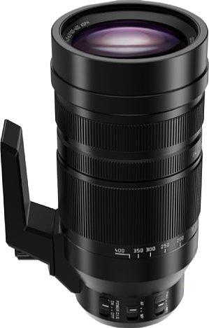 Bild Relativ kompakt in den Abmessungen deckt das Panasonic Leica DG 100-400 mm F4-6.3 OIS einen enormen Supertelebereich von 200 bis 800 Millimeter entsprechend Kleinbild ab. [Foto: Panasonic]