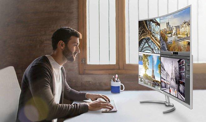 Bild Mit großen 4K-Monitoren, wie dem 40 Zoll großen Philips Brilliance BDM4037UW, hat man wirklich sehr viel Platz auf dem Bildschirm, um mehrere Programme gleichzeitig im Blick zu haben, ohne dass die Schrift und die Symbole zu klein werden. [Foto: Philips]
