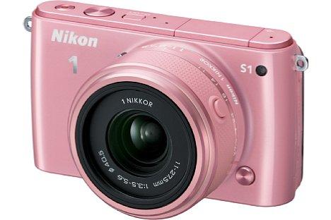 Bild Die Nikon 1 S1 gab es auch wieder in Rosa ... [Foto: Nikon]