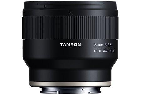 Bild Das Tamron 24 mm F2.8 Di III OSD M1:2 (F051) besitzt exakt dasselbe, übrigens spritzwassergeschützte Gehäuse wie die Weitwinkel-Schwestermodelle mit 20 und 35 Millimeter Brennweite. [Foto: Tamron]