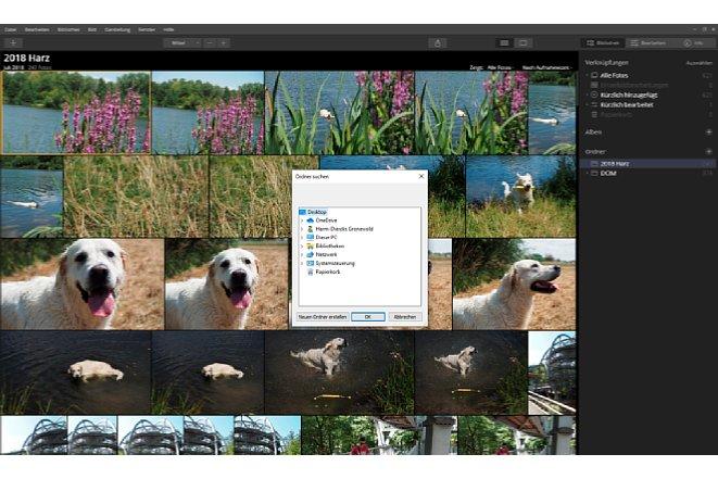 Bild Bevor die Arbeit mit Luminar 4 begonnen werden kann, muss die Software erst einmal Bilder importieren. Das lässt sich ganz einfach und recht schnell über die entsprechende Schaltfläche erledigen. [Foto: Medianord]
