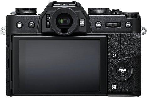 Bild Man mag es kaum glauben, aber die Fujifilm X-T20 bietet trotz Retro-Look einen klappbaren 7,6-Zentimeter-Touchscreen. Die Touch-Funktionalität lässt sich jedoch auf Wunsch abschalten. [Foto: Fujifilm]