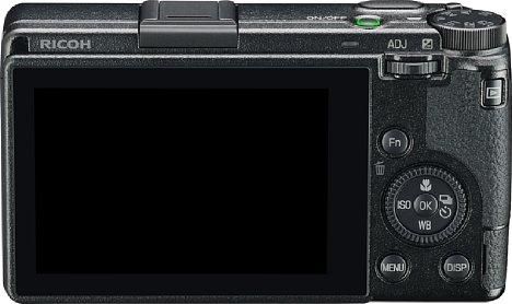 Bild Neu ist der Touchscreen auf der Rückseite der Ricoh GR III. Er erlaubt nicht nur einen Touch-Autofokus auf ein Motivdetail, sondern auch die Bedienung im Menü und während der Wiedergabe. Die GR III lässt sich aber auch klassisch über die Tasten bedienen. [Foto: Ricoh]