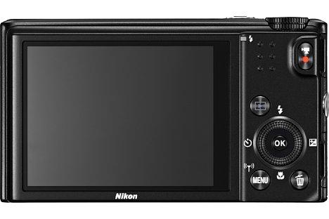 Bild Der Bildschirm der Nikon Coolpix S9600 löst 460.000 Bildpunkte auf. [Foto: Nikon]