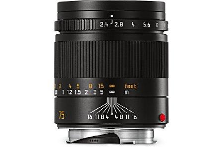 Bild Das Leica Summarit-M 1:2.4/75 mm ist 20 Gramm leichter als sein Vorgänger. [Foto: Leica]
