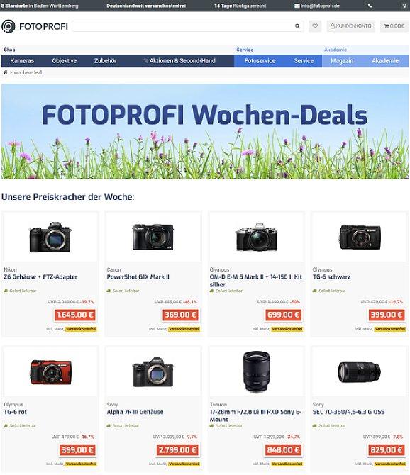 Bis zu 46 % sparen mit den FOTOPROFI Wochen-Deals