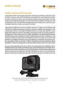 Bild Eine Outdoor-Fotokamera kaufen – oder doch vielleicht eine Actioncam? Wenn Sie sich das auch fragen, ist dieses Kapitel für Sie. [Foto: MediaNord]