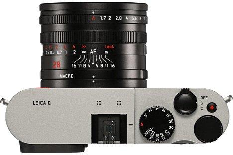 Bild Die Leica Q (Typ 116) titan besitzt eine 28 Millimeter Festbrennweite mit einer maximalen Lichtstärke von F1,7. [Foto: Leica]