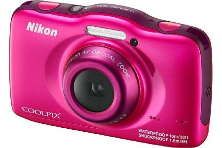 Bild Auch Fans der Farbe Pink kommen bei der entsprechenden Variante der Nikon Coolpix S32 voll auf ihre Kosten. [Foto: Nikon]