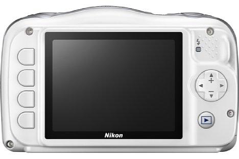 Bild Die Nikon Coolpix W150 soll besonders einfach zu bedienen sein, erst recht im Kindermodus. [Foto: Nikon]
