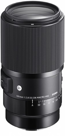 Bild Beim 105 mm F2.8 DG DN Macro Art verzichtet Sigma zugunsten einer höheren Bildqualität sogar auf einen optischen Bildstabilisator. Die meisten der Kleinbildkameras mit E- und L-Anschluss besitzen sowieso einen eingebauten Sensor-Shift-Bildstabilisator. [Foto: Sigma]