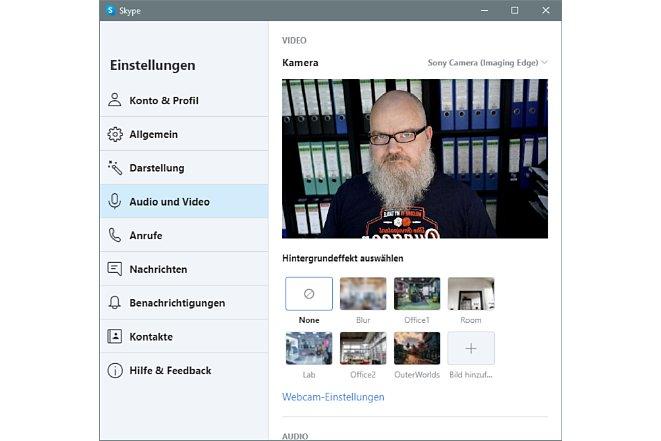 Bild Der Einsatz von Sony Imaging Edge Webcam funktioniert auch in Skype. [Foto: MediaNord]