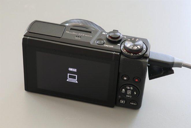 Bild Schließt man eine Kamera, die wie Canon PowerShot G7 X Mark III an den PC an, geht diese wie üblich zunächst ganz normal in den Datenübertragung-Modus. [Foto: MediaNord]