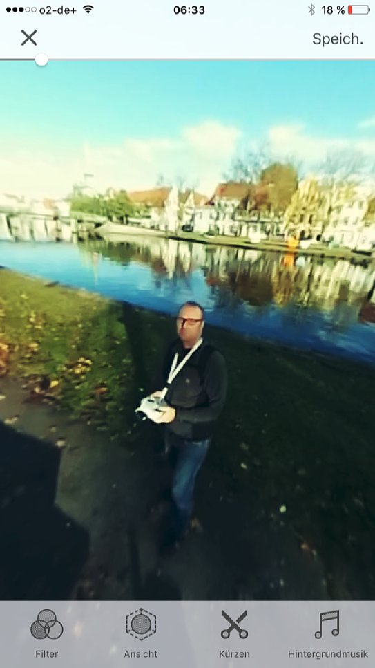 Bild Ricoh Theta+ Video App für iPhone. [Foto: MediaNord]