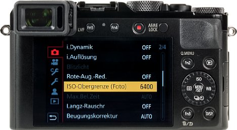 Bild Beim Bildschirm der Panasonic Lumix DC-LX100 II handelt es sich nun um einen Touchscreen, der allerdings weiterhin fest verbaut ist. [Foto: MediaNord]