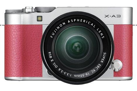 Bild Wer es etwas schriller mag, kann zur pinken Fujifilm X-A3 greifen. Dank WLAN lässt sich die X-A3 fernsteuern und teils Bilder mit Smartphones, Tablets und sogar PCs. [Foto: Fujifilm]