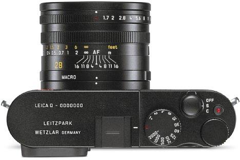Bild Leica Q schwarz Leitzpark-Edition. [Foto: Leica]