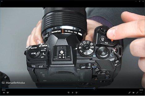 """Bild Screenshot aus dem Schulungsvideo """"Olympus Fortgeschrittenenseminar"""". [Foto: MediaNord]"""