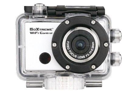 Bild Die Easypix GoXtreme WiFi Control Actioncam im 45-Meter-Unterwassergehäuse. [Foto: Easypix]