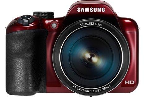 Bild Die Samsung WB1100F zoomt zwar optisch nur 35fach von 25-875 mm, bietet aber wie die WB2200F NFC und WiFi zur einfachen Verbindung mit Smartphones, Tablets und WLANs. [Foto: Samsung]