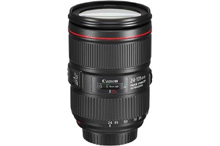 Bild Canon hat das neue EF 24-105 4L IS II USM mit einem verbesserten Bildstabilisator ausgestattet, auch die Abbildungsleistung soll sich erhöht haben. [Foto: Canon]