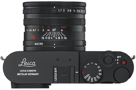 Bild Die Leica Q-P setzt auf schöne, klassische Bedienräder für Blende, Fokus und Belichtungszeit. [Foto: Leica]