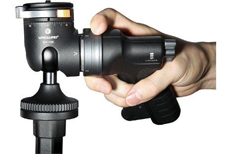 Bild Die Position des Griffs kann in 45-Grad-Schritten den eigenen Vorlieben der Aufnahmesituation angepasst werden. [Foto: Vanguard ]