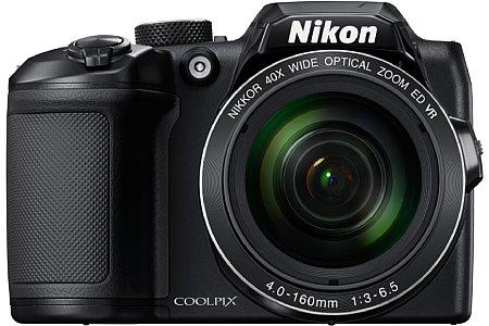 Bild Die Nikon Coolpix B500 löst 16 Megapixel auf und zeichnet Full-HD-Videos auf. Dank der Stromversorgung mittel vier AA/Mignonzellen kann nahezu weltweit für Energienachschub gesorgt werden. [Foto: Nikon]
