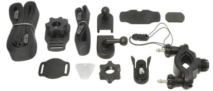 Bild Die Polaroid XS100/XS100i WiFi Actioncams kommen mit einem recht großen Umfang anBefestigungszubehör. [Foto: Polaroid]