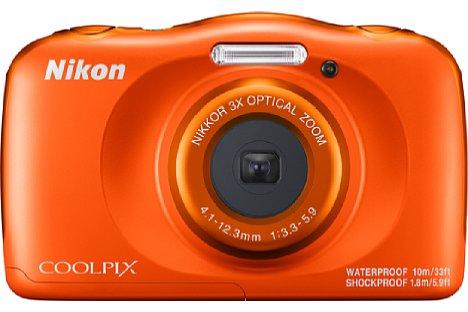 Bild Die Nikon Coolpix W150 gibt es nun in Orange statt Gelb, wie noch beim Vorgängermodell W100. [Foto: Nikon]