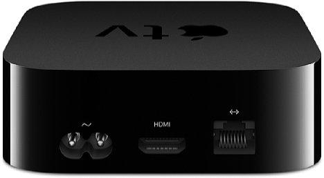 """Bild Das Apple TV kommt (anders als die kleinen """"HDMI-Stecker-Anhänger"""" von Google oder Amazon) als Set-Top-Box mit integriertem Netzteil, HDMI-Buchse und Netzwerk-Buchse. [Foto: Apple]"""