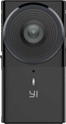 Die Ringe um das Objektiv herum sind offenbar eher ein Design-Element, als dass diese irgendeine Funktion hätten. Das eigentliche Objektiv-Frontglas der Yi 360 VR ist kaum mehr als Daumennagel-groß. Etwa wie bei schlanken Ricoh Theta Serie. [Foto: Yi Technologies]