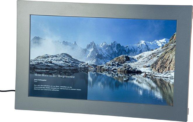 Bild Der Meural WiFi Photo Frame setzt ein FullHD-IPS-LCD zur Darstellung von Bildern ein. [Foto: MediaNord]