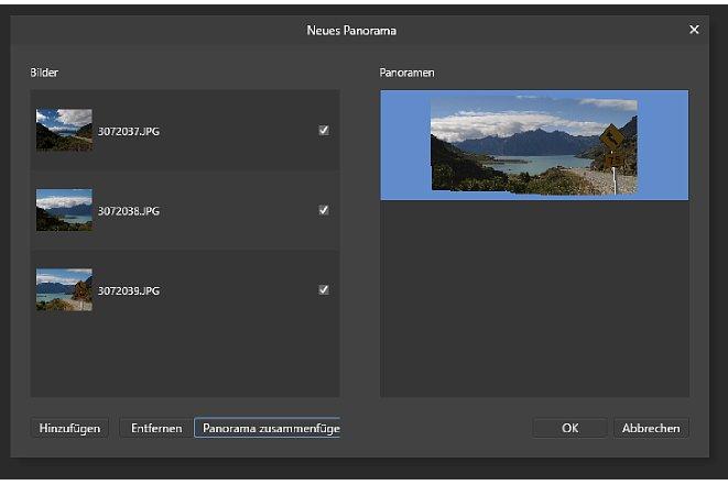 Bild Im Panorama-Assistenten stitched Affinity Photo automatisch und sehr genau Panorama-Einzelbilder zu einem Ganzen zusammen und passt sogar kleine Bildunterschiede an. [Foto: MediaNord]