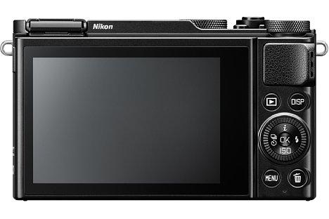 Bild 1,037 Millionen Bildpunkte löst der rückwärtige OLED-Touchscreen der Nikon DL18-50 f/1.8-2.8 auf. [Foto: Nikon]