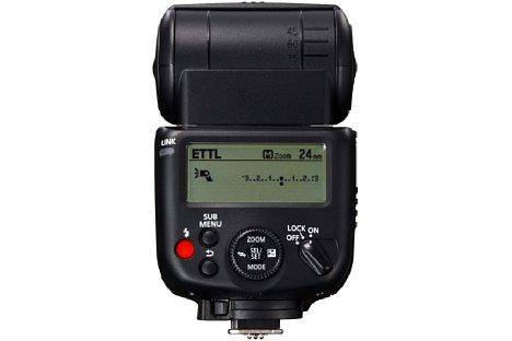 Bild Das Canon Speedlite 430EX III-RT besitzt ein größeres, weiterhin beleuchtbares LC-Display zur Anzeige der Einstellungen. [Foto: Canon]