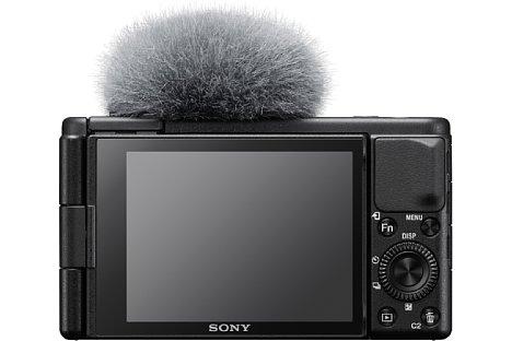 Bild Die Rückseite der Sony ZV-1 wird hauptsächlich vom Touchscreen eingenommen, einen elektronischen Sucher gibt es nicht. [Foto: Sony]